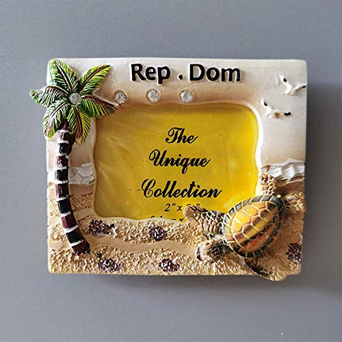 Imanes de nevera de la República Dominicana, recuerdo turístico, pegatinas decorativas para nevera, marco de fotos, decoración del hogar