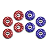 TORPSPORTS(Dia.53mm) 2-1/8'' Shuffleboard Pucks, Set of 8 Blue/Red