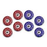 TORPSPORTS(Dia.53mm) 2-1/8'' Shuffleboard Pucks, Set of 8 Blue/Red