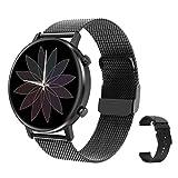 RIGHT TECHNOLOGY SCHARM Smartwatch für Damen,1.3 Zoll Touch-Farbdisplay. Fitness Armbanduhr mit Pulsuhr Fitness Tracker Wasserdicht Sportuhr mit Schrittzähler,Schlafmonitor, Kompatibel IOS/Android
