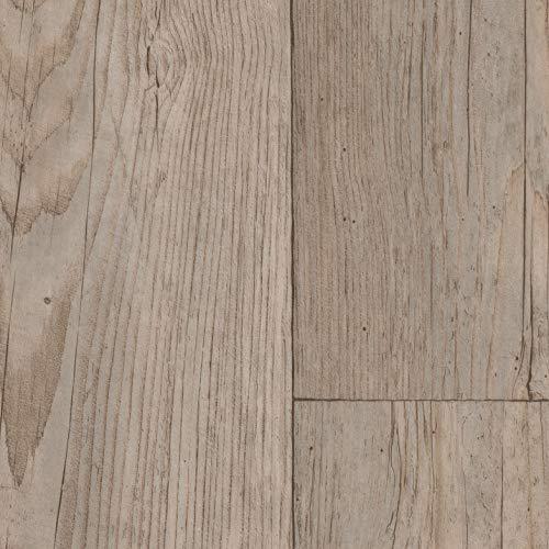 PVC Bodenbelag Landhaus Winterpinie | Vinylboden in 2m Breite & 5m Länge | Fußbodenheizung geeignet | Vinyl Planken strapazierfähig & pflegeleicht | Fußbodenbelag für Gewerbe und Wohnbereich