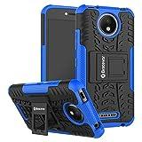Bracevor Hybrid Back Cover Kickstand Case for Motorola Moto C Plus - Blue
