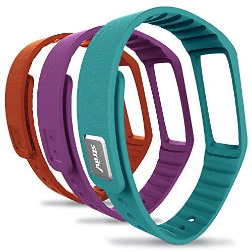 Striiv Fusion Wristband, Orange/Light Blue/Purple, One Size by Striiv