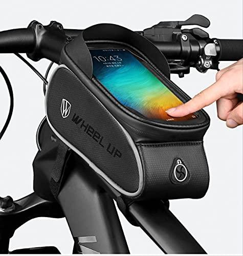 Bolsa De Portabicicletas, Impermeable, Bolsa De Almacenamiento De Pantalla Táctil De Tubo Superior Delantero Para Bicicleta, Adecuado Para Iphone Samsung Y Otros Teléfonos Inteligentes De Menos De 6,5