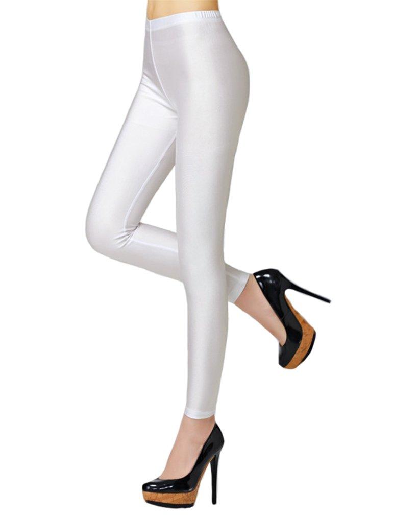 Swtddy Women S Fashion Shiny Nylon Stretchy Skinny Dance Leggings Pants Buy Online In Bulgaria At Desertcart Productid 113398353
