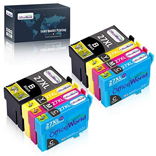 OfficeWorld 27XL Alta Capacidad Cartuchos de Tinta Compatible para Epson 27 con...