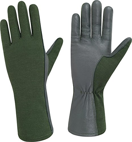 normani US Herren Pilotenhandschuhe mit Hitzeschutz Farbe Oliv Größe 9