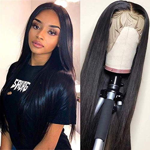 Lace Front Wigs Human Hair for Black Women 150% Density 9A Brazilian 13×4 Viennois Straight Human Hair Lace Front Wigs Pre Plucked with Baby Hair Natural Hairline Wigs(22inch)