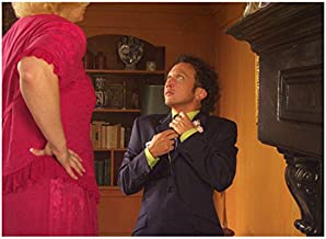 Deuce Bigalow: European Gigolo 8x10 Photo Rob Schneider Looking Up at Tall Woman in Pink kn
