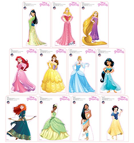 "Advanced Graphics Mini Disney Princesses Standees 2016 (11 Pack: All Princesses) 9"" - 10"" Tall"