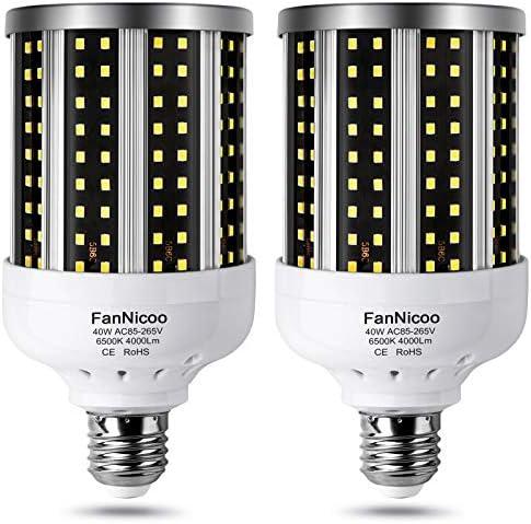 LED Corn Light Bulb 2 Pack 280W Equivalent Cool Bright Daylight White 40W 6500K 4000 Lumen E26 product image