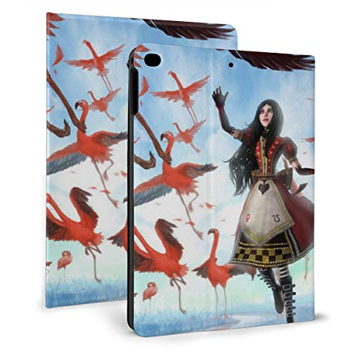 Game Alice Madness Return iPad 9.7 Hülle 2018 2017 / iPad Air 1/2 Cover Auto Wake/Sleep für Apple iPad 9.7 Zoll 6th / 5th PU Leder Shell Stand Smart Slim