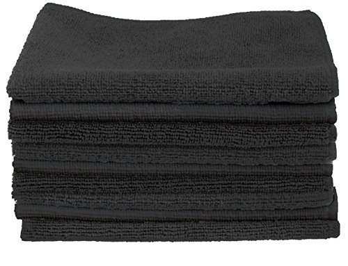 CARTMAN Microfiber Cleaning Cloth in Black Color 14 in x 14 in