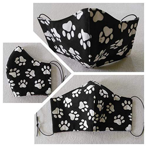 Mund-Nase-Maske, Handgefertigte Behelfsmaske aus Baumwolle, Optional mit Filtervlies, Tasche und