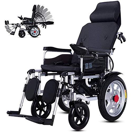 COKECO Faltbarer Power Kompakter Mobilitätshilfe-Rollstuhl,Leichter elektrischer Elektrorollstuhl Reclining,Geeignet für behinderte ältere Menschen mit Einer maximalen Belastung von 200kg