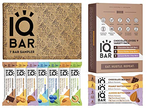 IQBAR Keto Protein Bars Bundle 19 Bars  Glutenfree Dairyfree Low Carb Protein Bars and Vegan Snacks  12 Low Carb Chocolate Lovers Variety Protein Bars  7 Bar Sampler Keto Snacks