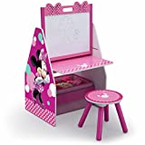 Delta Children Kids Easel and Play Station – Ideal for Arts & Crafts, Drawing, Homeschooling and More, Disney Minnie Mouse