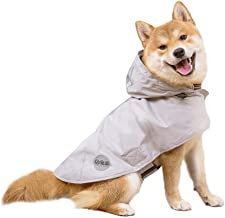 Nourse CHOWSING Dog Raincoat Adjustable Lightweight Waterproof Dog Rain Jacket Dog Rain Poncho Dog Rain Gear with Reflective Strip for Small Medium Large Dogs