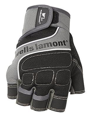 Wells Lamont Men's Fingerless Synthetic Leather Work Gloves