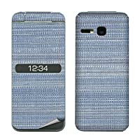 decopro スキンシール 902KC 903KC DIGNO ケータイ3 デコシート 携帯保護シール 気泡レス ファブリック 布柄 ブルー&グレー系