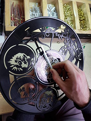 Hellboy Vinyl Record Wall Clock Wall Art Decor Gift idea for Birthday, Christmas, Women, Men, Friends, Girlfriend Boyfriend and Teens - Decor for Bedroom Living Kids Room Nursery