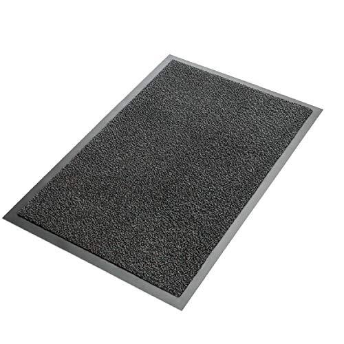 EXKLUSIV HEIMTEXTIL Schmutzfangmatte Sauberlaufmatte Fußmatte 1 Stück 1,20 m x 1,80 m Anthrazit