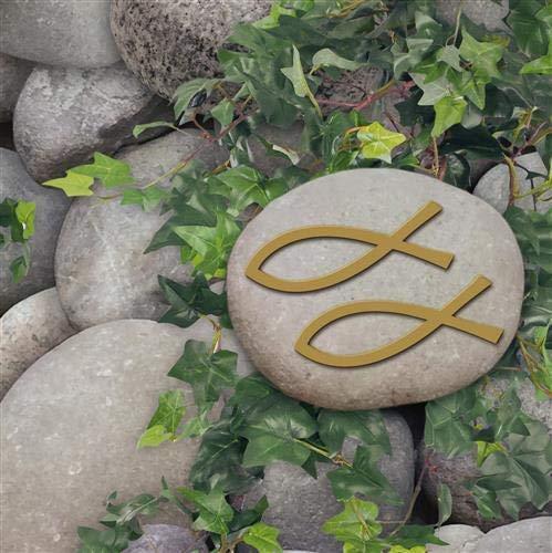 20 Servietten Ichthys on Stones/Fische/Kommunion/Konfirmation/Taufe 33x33cm