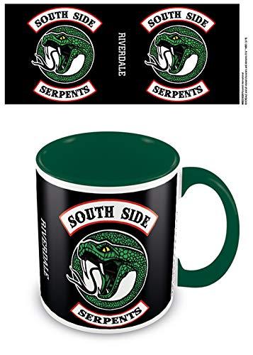 Riverdale Tasse South Side Serpents schwarz/grün, bedruckt, aus Keramik, Fassungsvermögen ca. 315 ml..