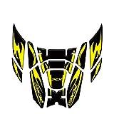 Moto Accesorios Juego Pegatinas Cubierta del tanque de combustible de la motocicleta Pegatina lateral de la etiqueta de la protección del cuerpo para Honda PCX125 PCX150 PCX 125 PCX 150 2018-2020 4D T