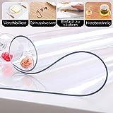 ToPicks PVC Tischdecke Transparent, Tischfolie Durchsichtig Schutztischdecke Abwischbare Tischschutzfolie Abwaschbar Hochglanz Meterware ( ungefähr 90 x 160 cm) - 2