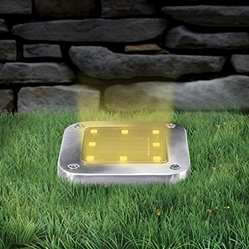 Luces Solares para Jardín Lámpara, Super Brillante Luces Solares para Exterior Jardin LED Lámpara de pie LED Impermeable Luces Decorativas de Paisaje Lámpara Solar Foco Empotrado Luces de Escalera