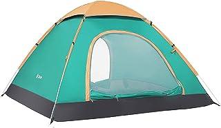 Ubon Automatisk öppning pop-up tält vattentätt 2–3 personer utomhus campingtält bärbar lätt ryggsäck tält solskydd strandtält