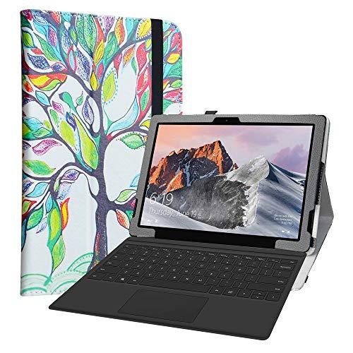 Labanema Custodia per TECLAST X6 Pro, PU Pelle Slim Flip Case Cover Protettiva Pieghevole Stand per 12.6' TECLAST X6 Pro 2 in 1 Laptop Tablet - Love Tree