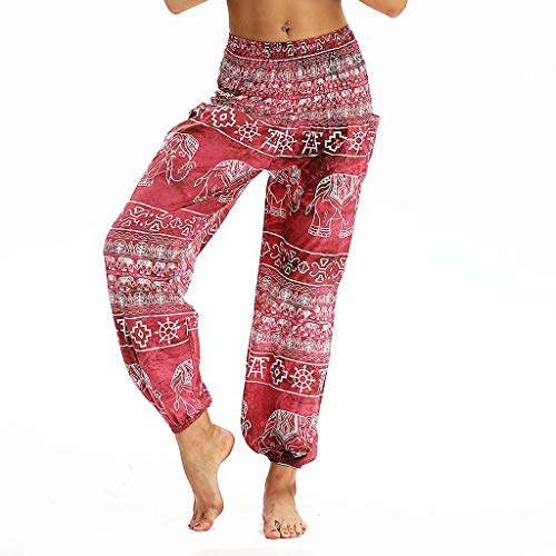 Posional Pantalón Harem Talla Grande para Mujer, Pantalones de algodón Sueltos Ocasionales...