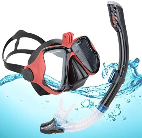 DiiDa Snorkel Set Adults and Youth with Go Pro Mount Tempered Glass Anti Fog Mask Anti Leak product image