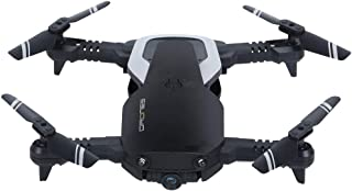 GoDeal Fixd Aircraft Drone Foldable RC Drone 2.4G 4CH 360 Degree Flip 0.3MP/2.0MP HD Camera RC Quadcopter VS E511 E511s Mavic Air E58 2.0MP 1 Battery (with Optical Flow) Black