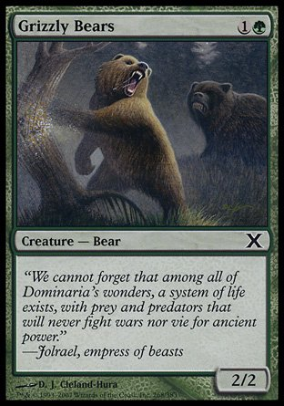 Magic The Gathering - Grizzly Bears (268/383) - Tenth Edition - Foil