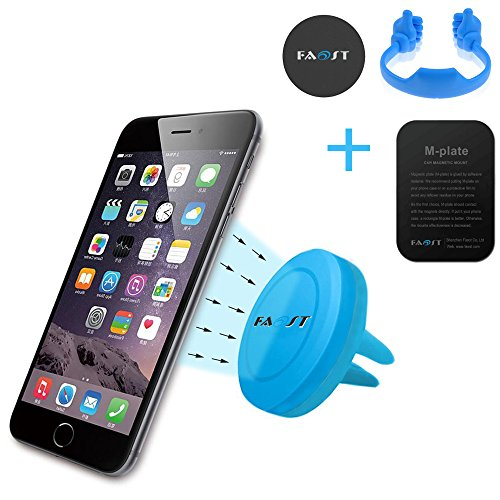 Faost 3 in 1,Vent Holder,Air Vent Mount w/Fast Swift-Snap Technology for Smartphones,GPS,Thumb up Stand for Cell Phone,iPad,Tablet,Kindle Holder Blue Color