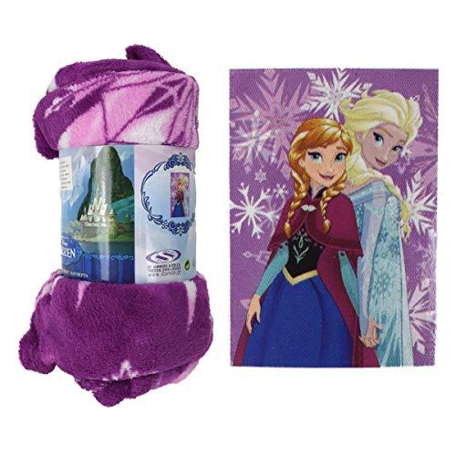 Marabellas Kuscheldecke Disney Frozen Kinderdecke 100x160cm Anna & ELSA Eiskönigin