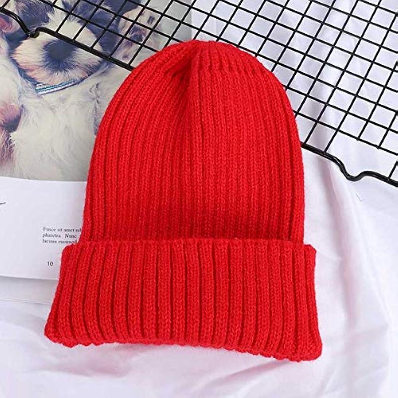 ラッシュ気取らない主婦ZHENGDANG 冬の無地ニットビーニー女性帽子暖かい女性ソフト厚くキャップ??ボンネットスキー