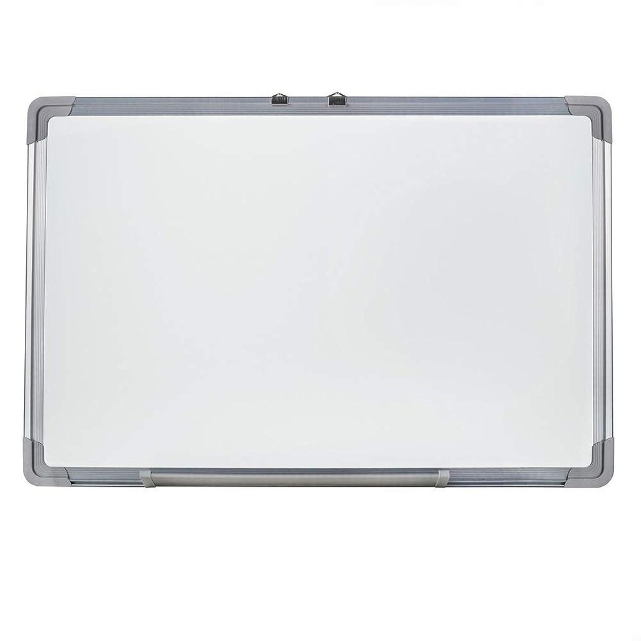 ホットポップハーネスホワイトボード 磁気ドライ消去ボード、23.6 X 35.4インチ、シルバーアルミニウムフレーム 事務用品 オフィス用品 (色 : 白, サイズ : 60x90cm)