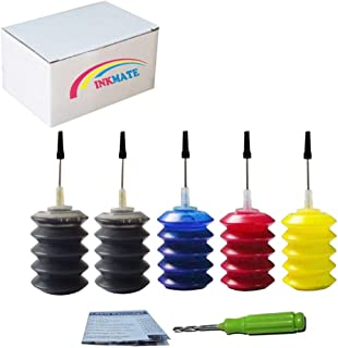 INKMATE Compatible Refill Dye Ink Replacement for PG-210 CL-211 / PG-240XL CL-241XL for Canon Pixma MG2120 MG3120 MG3520 MG4220 MX432 MX452 2BK/1C/1Y/1M (5 x 30ML) 5Pack