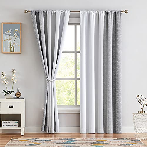 Ombre Full Blackout Curtains 63 Inches Length