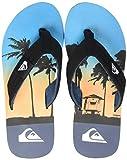 Quiksilver Molokai Layback, Zapatos de Playa y Piscina Hombre, Multicolor (Black/Blue/Blue Xkbb), 39 EU