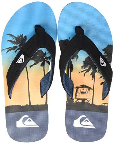 Quiksilver Molokai Layback, Scarpe da Spiaggia e Piscina Uomo, Multicolore (Black/Blue/Blue Xkbb), 42 EU