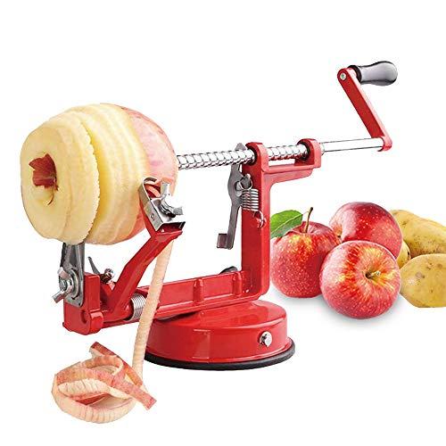 Mifidy Apple Potato Peeler Corer Durable Heavy Duty Die Cast Magnesium Alloy Peelers Slicer Fruit Vegetable Peeler for Kitchen (Red)