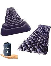エアーマット シングルキャンプマット コンパクト 軽量 超柔らかい材質 防湿防水 キャンプ大活躍 車中泊 防災 テント用 空気 アウトドア用