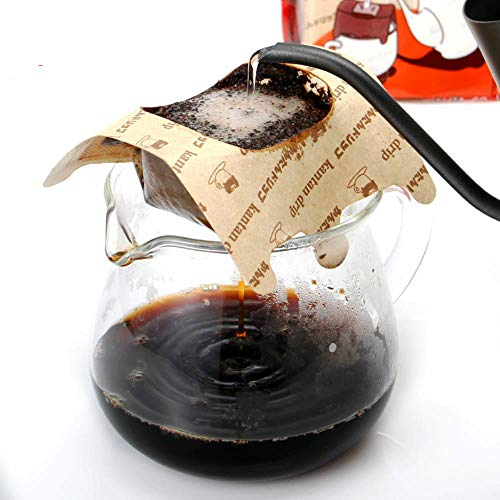 HPPLPortable Drip Kaffeefilterbeutel   30 Blatt Home Office Travel DIY Kaffeefilter mit hängendem Ohrstil Papier handbrauner Kaffee, China