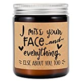 GSPY Lavender Scented Candles - Long Distance Relationships Gifts - I Miss Your Face - Best Friend...