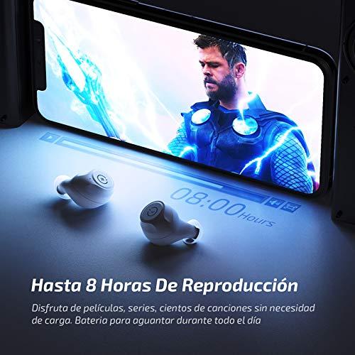 Auriculares inalámbricos Bluetooth ENACFIRE E60 V5.0, 8 Horas de reproducción Permanente, Auriculares Deportivos Bluetooth de Nivel IPX8, Calidad de Sonido HD, Doble micrófonos